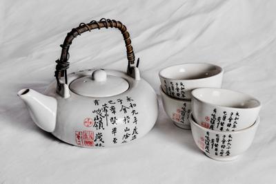 Arbatinukas ir puodeliai